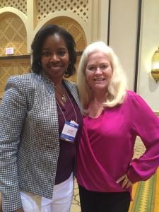 Laya Gavin with Sharon Letcher at CEOSpace Conference